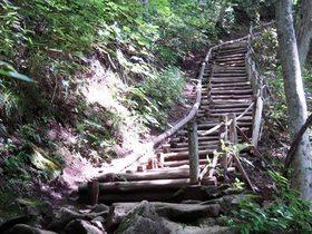 中津川渓谷 階段