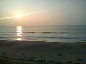 荒浜、朝日